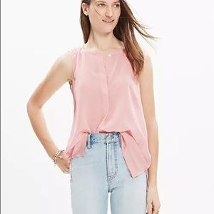 Madewell Silk Composition Tank Top Blouse